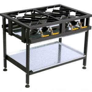 Anvil 4 Burner Staggered Gas Boiling Table