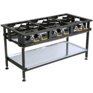 Anvil Floor-Standing Staggered 4 Burner Gas Boiling Table
